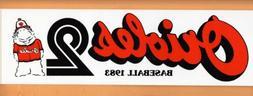 1983 BALTIMORE ORIOLES BUMPER STICKER Unused CHAMPIONSHIP YE