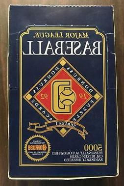1992 Donruss Baseball Series 1 Box Lot Of 3 Unopened Packs