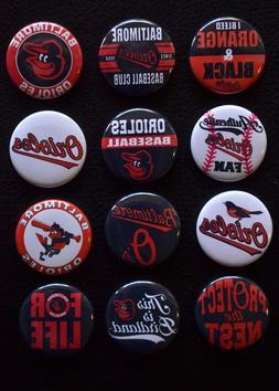 "Baltimore Orioles - 1 1/2"" Inch Magnet Set  -"
