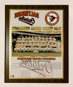 Baltimore Orioles 1966 World Series Championship Plaque by H