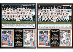 Baltimore Orioles 1983 World Series Champions Photo Card Pla