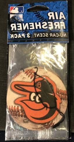 Baltimore Orioles 3 Pack Air Freshener NEW F46 MLB