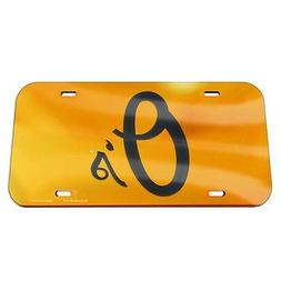"""BALTIMORE ORIOLES 6""""x12"""" CRYSTAL MIRROR LICENSE PLATE BRAND"""