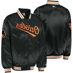 Baltimore Orioles Majestic Big & Tall Satin Full-Snap Front