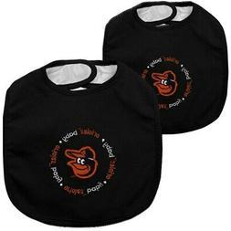 baltimore orioles 2 pack baby bibs black