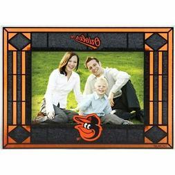 Baltimore Orioles Black Art-Glass Horizontal Picture Frame