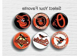 "Baltimore Orioles Buttons 1.25"" MLB Team Hat T-Shirt Jersey"