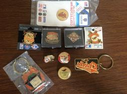 Baltimore Orioles Collector Pins and Key Chains