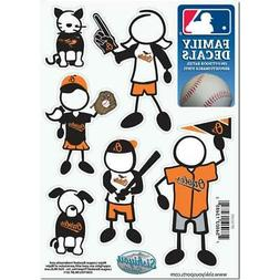 Baltimore Orioles Family Decals 6 Pack  MLB Small Auto Car S
