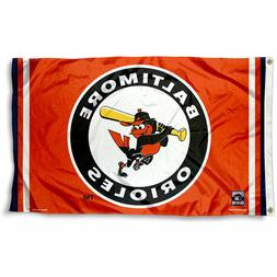BALTIMORE ORIOLES FLAG 3'X5' MLB BANNER: FAST FREE SHIPPING
