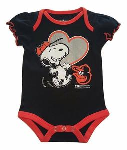 Baltimore Orioles Infant Girls Creeper Snoopy Peanuts Baby R