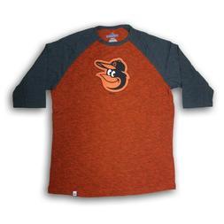 Baltimore Orioles Men's Majestic 3/4's Sleeve Dark Orange/Gr