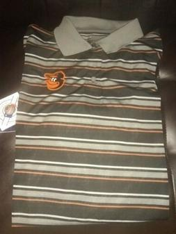 Baltimore Orioles Men's Majestic Cool Base Striped Polo Shir