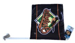 Baltimore Orioles MLB 12 Inch X 11 Inch Car Flag Wincraft Sp
