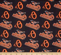 Baltimore Orioles MLB Logo Design 58-60 inch 100% Cotton Fab
