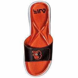 Baltimore Orioles MLB Men's FILA Hudson Black Slide Sandals