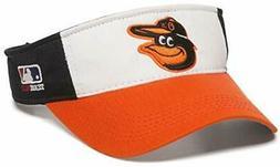 Baltimore Orioles MLB OC Sports White Black Golf Sun Visor H