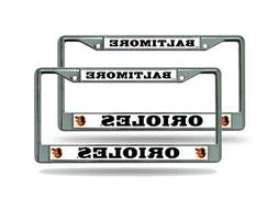 Baltimore MLB Baseball Orioles  Chrome Metal License Plate F