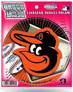 "Baltimore Orioles NEW LOGO 4"" Round Decal Bumper Sticker Emb"