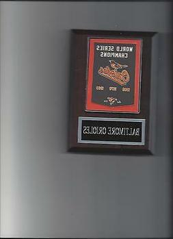 BALTIMORE ORIOLES O'S WORLD SERIES BANNER PLAQUE CHAMPIONS C