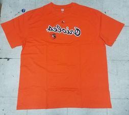 "Baltimore Orioles ""Orioles"" Men's Orange Majestic T-shirt Ne"
