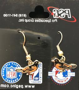 Baltimore Orioles Primary Logo J Hook Earrings NEW
