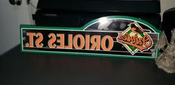 BALTIMORE ORIOLES STREET/AVE SIGN BY WINCRAFT NEW