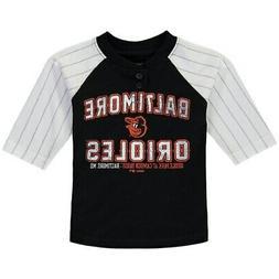 Baltimore Orioles Toddler Black The Original 3/4-Sleeve T-Sh