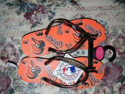 BALTIMORE ORIOLES  WOMENS SANDALS NEW WITH TAGS SIZE 5-6 SEE