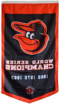 Baltimore Orioles World Series Champions  Flag Banner Man Ca