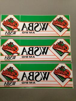 Baltimore Orioles WSBA Bumper Stickers  Lot Of 3