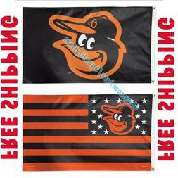 Deluxe Baltimore Orioles Logo USA Stars Stripes Flag Banner