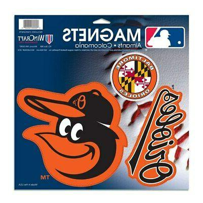 baltimore orioles 11 x 11 3 pack