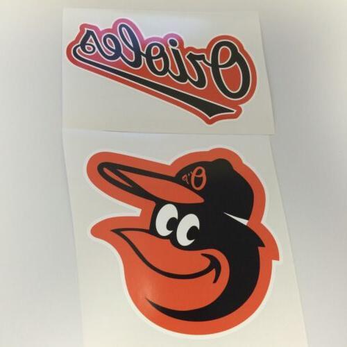 baltimore orioles baseball vinyl sticker decal car