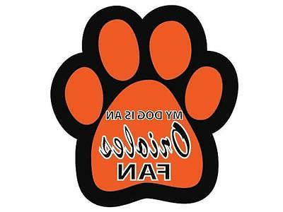 baltimore orioles car magnet my dog is