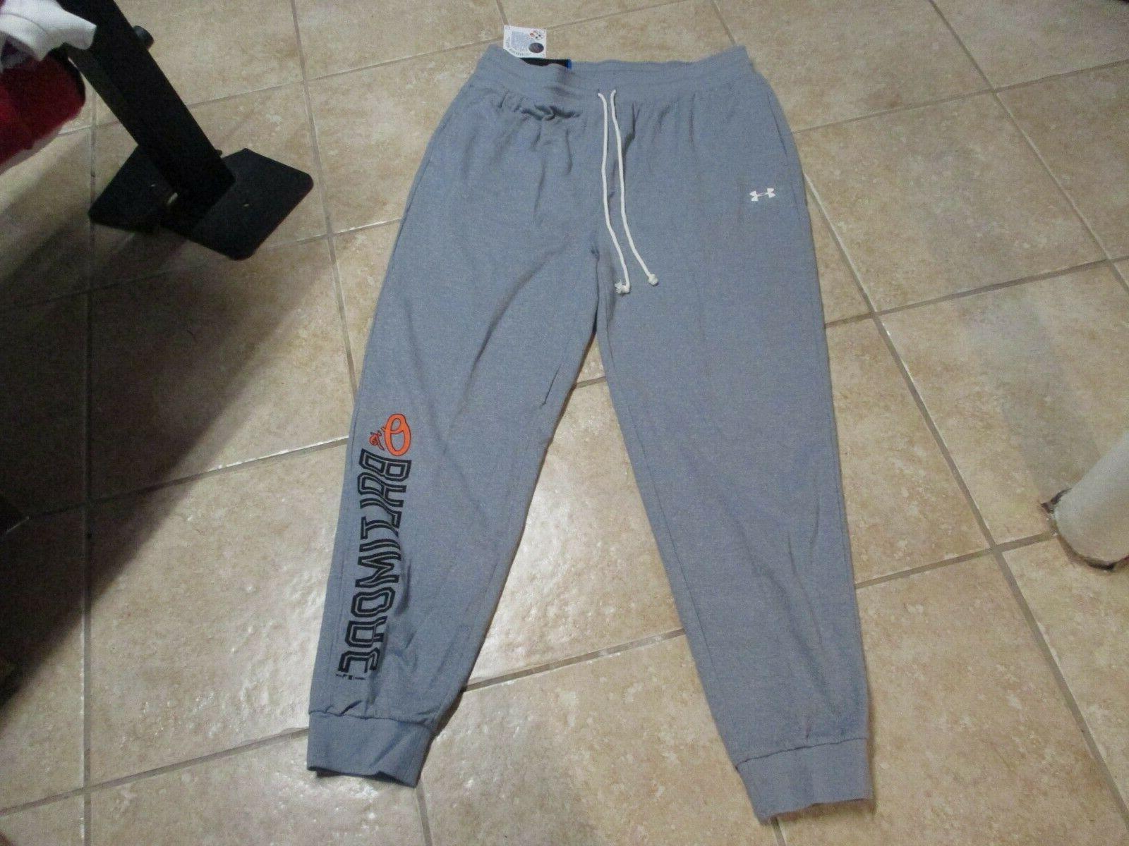 baltimore orioles cold gear fleece pants xxl