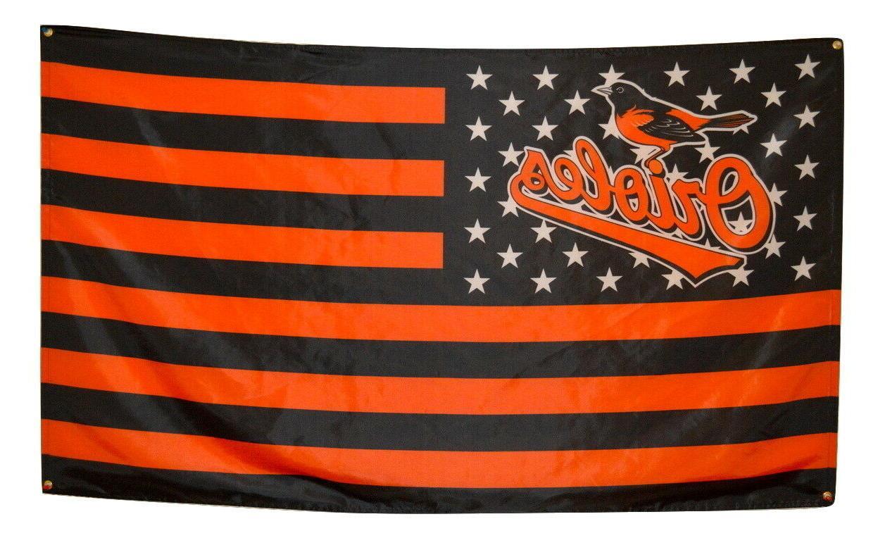 baltimore orioles flag 3x5 banner mlb stars