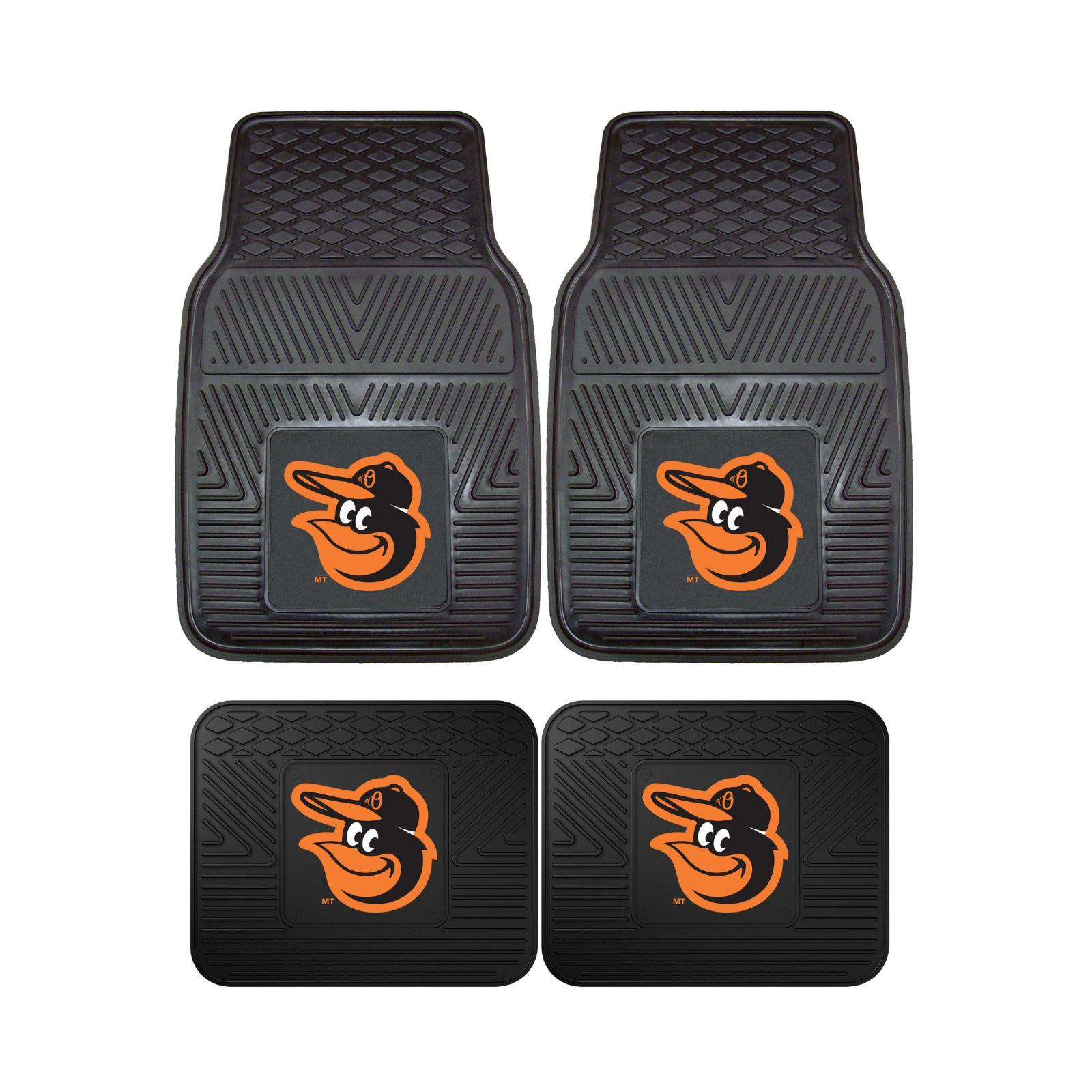 Baltimore Orioles Car Front Rear Floor Set Seat