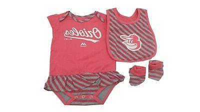 baltimore orioles mlb infant girls size 3