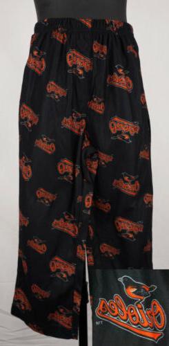 Baltimore Orioles Pajama Pants Boys XS  Black Kids PJ Pants