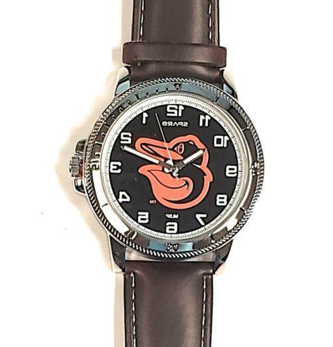 baltimore orioles premium classic logo mens watch