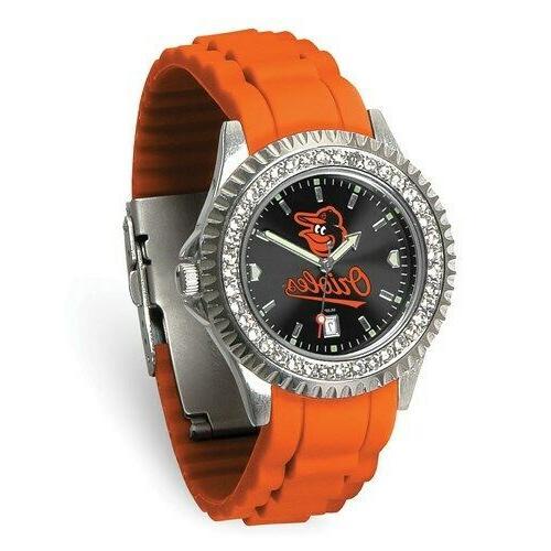 mlb baltimore orioles bird ladies sparkle watch