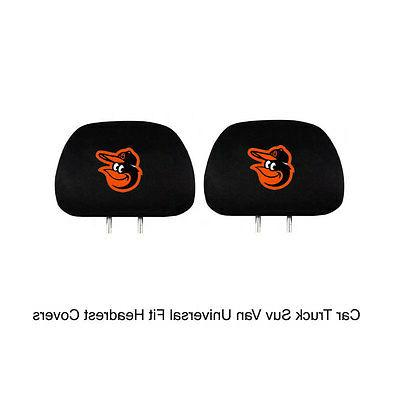 new mlb baltimore orioles head rest covers