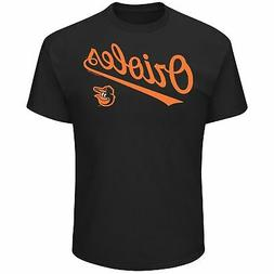 Men's Majestic Black Baltimore Orioles Bigger Series Sweep T