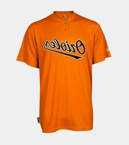 Men's Medium Baltimore Orioles Majestic Cool Base 2 Button R