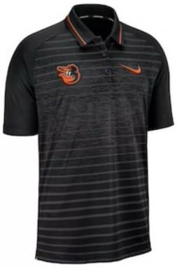 Nike Men's Baltimore Orioles Stripe Polo Jersey Shirt Larg