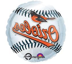 "MLB Baltimore Orioles 18"" Foil Balloons Major Baseball Heliu"