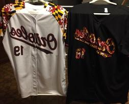 MLB Baltimore Orioles 2018 & 2019 FLAG JERSEY Size Mens XL S