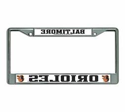 MLB Baltimore Orioles Chrome License Plate Frame