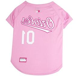 Pets First MLB Baltimore Orioles Dog Jersey, X-Small, Pink